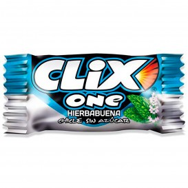 CHICLE CLIX ONE HIERBABUENA MONOPIEZA