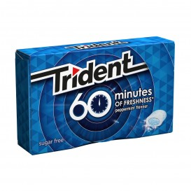 CHICLE TRIDENT 60 MINUTOS MENTA
