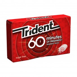 CHICLE TRIDENT 60 MINUTOS FRESA