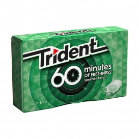 CHICLE TRIDENT 60 MINUTOS HIERBABUENA