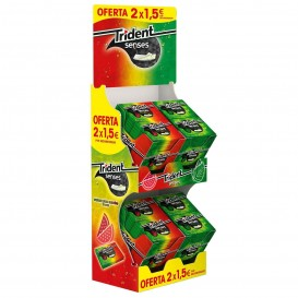 LOTE CHICLE TRIDENT SENSES 2X1,5€