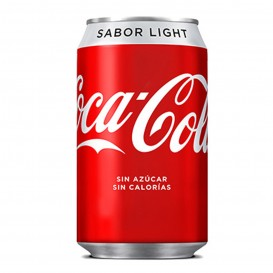 COCA-COLA LIGHT LATA 33CC.