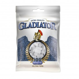 FILTROS GLADIATOR REGULAR 8mm, BOLSA DE 100 FILTROS