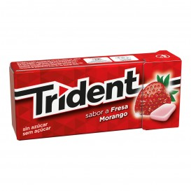 CHICLE TRIDENT GRAGEA FRUIT FRESA