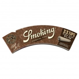 SMOKING BROWN CONICAL TIPS KING SIZE SLIM, LIBRITO DE 33 FILTROS
