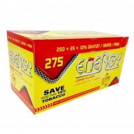 TUBOS ENERGY FILTRO EXTRA LARGO 275U, CAJA DE 275 TUBOS