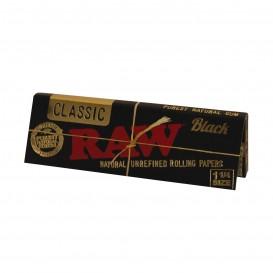 RAW BLACK 1, 1/4, LIBRITO DE 50 HOJAS