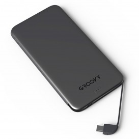 POWER BANK PARA MICRO USB + TYPE-C 4000 Ma GROOVY