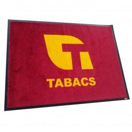 ALFOMBRA PARA SECADO LOGO TABACS CON BASE DE CAUCHO 0,60X0,85 M.