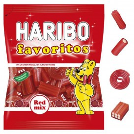 FAVORITOS RED MIX HARIBO 90 GRS.