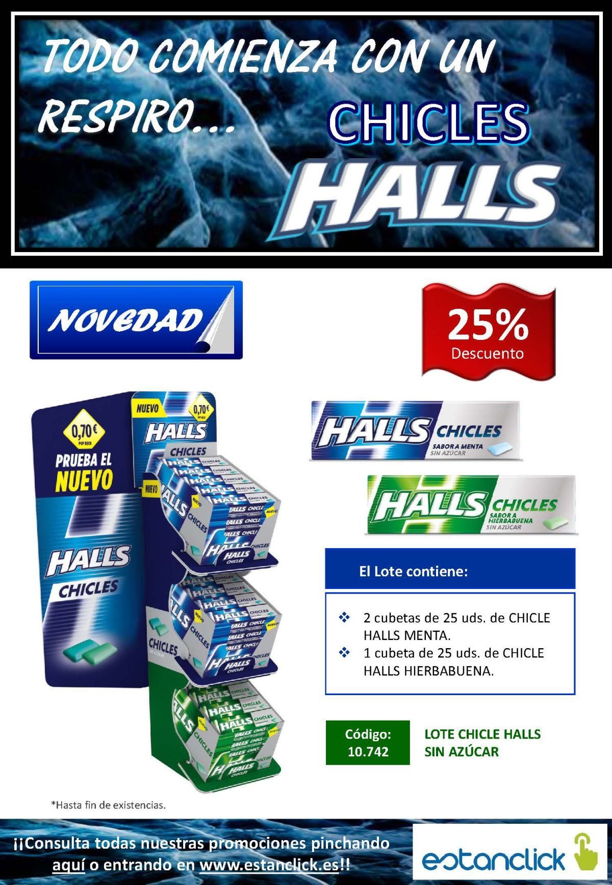 Lote Chicles Halls